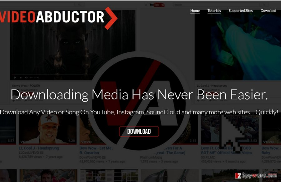 The example of Video Abductor