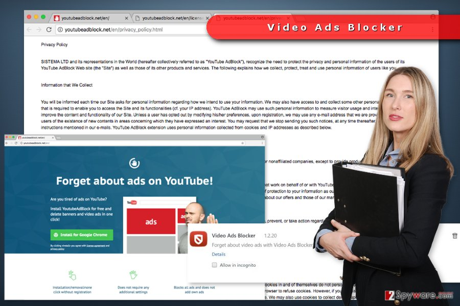 The image of Video Ads Blocker virus