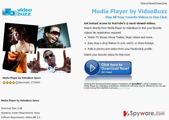 Video Buzz adware snapshot
