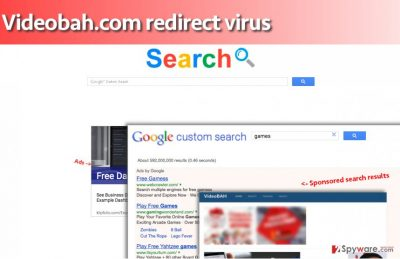 This is how Videobah.com virus' search engine looks like