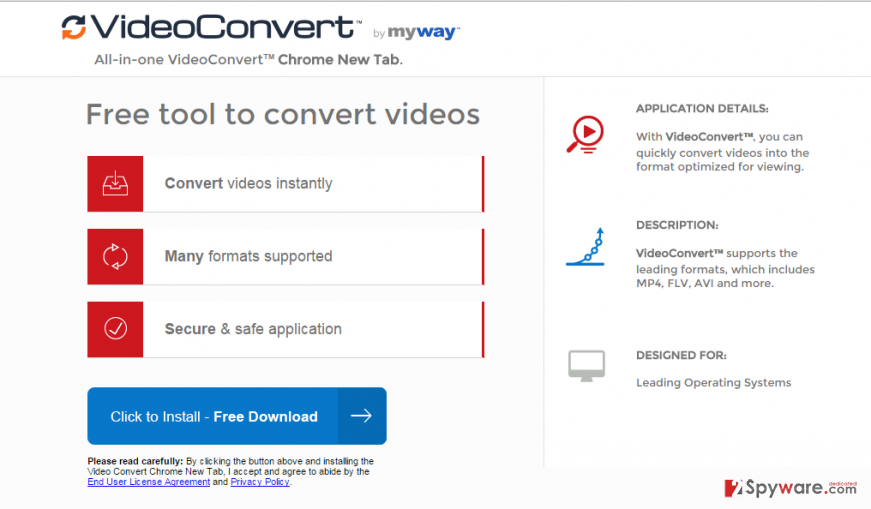 Video Convert toolbar