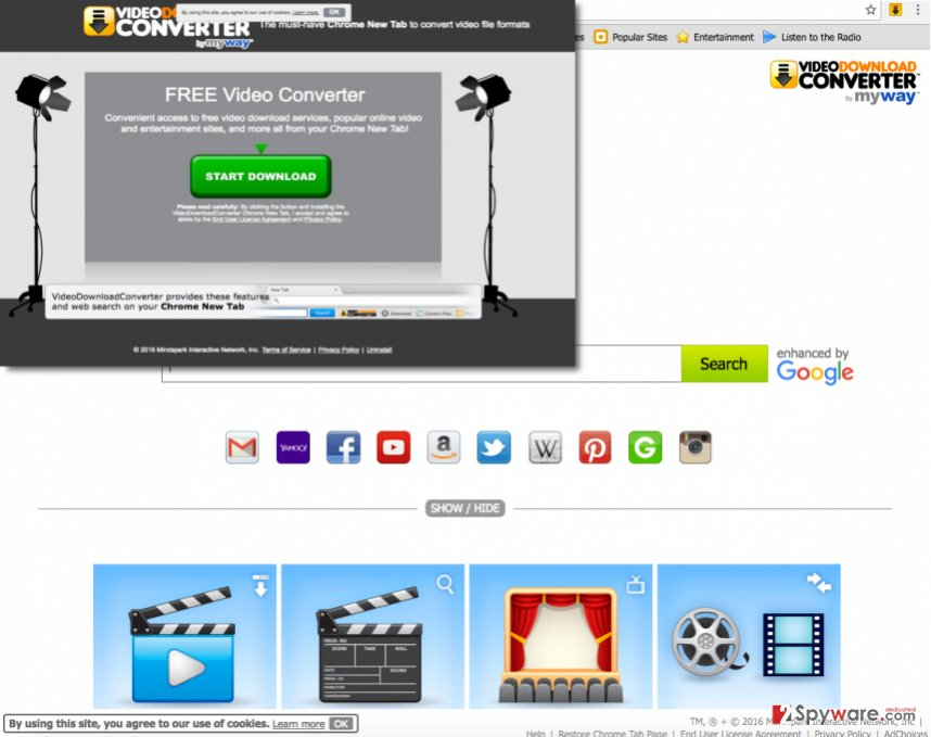 Screenshot showing VideoDownloadConverter search