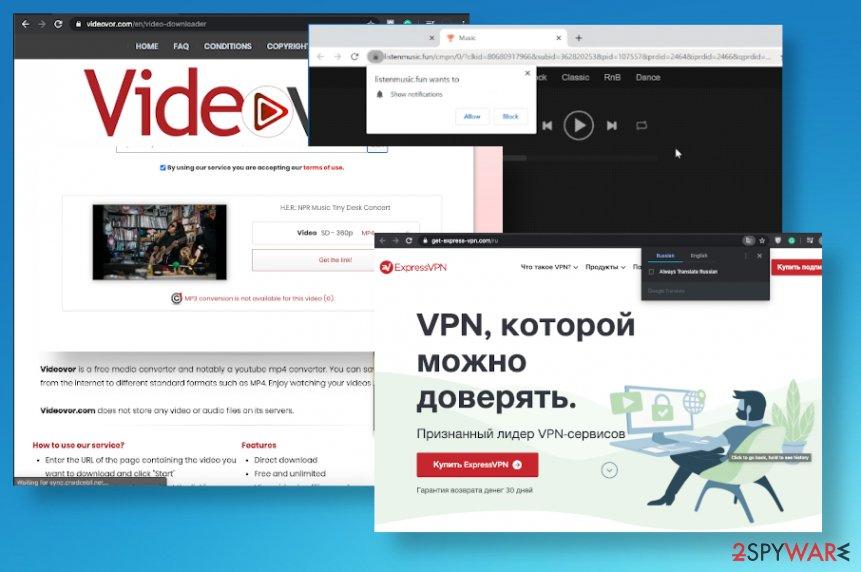 Videovor.com ads