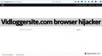 Vidloggersite.com hijacker changes homepage