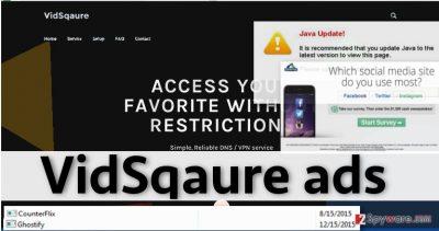 Examples of VidSqaure ads