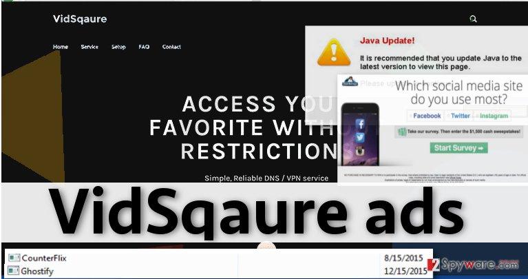 VidSqaure virus displays intrusive advertisements