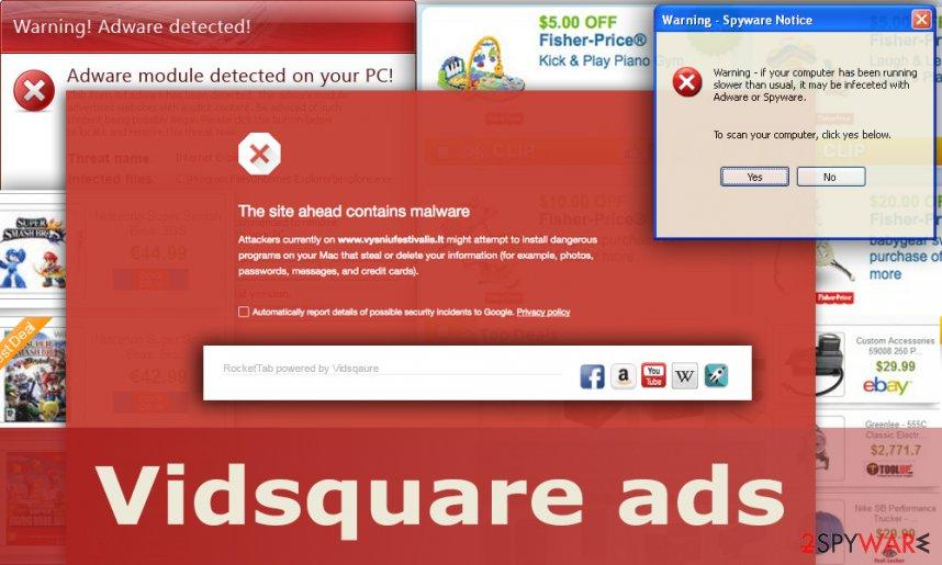 The illustration of Vidsquare ads