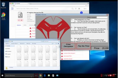 ViiperWare ransomware attack in Windows computer