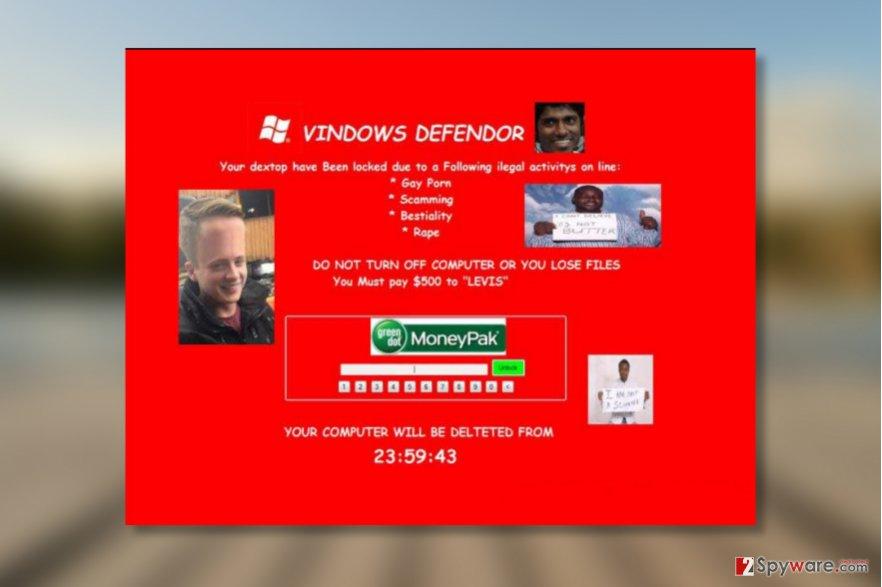 VINDOWS DEFENDOR virus