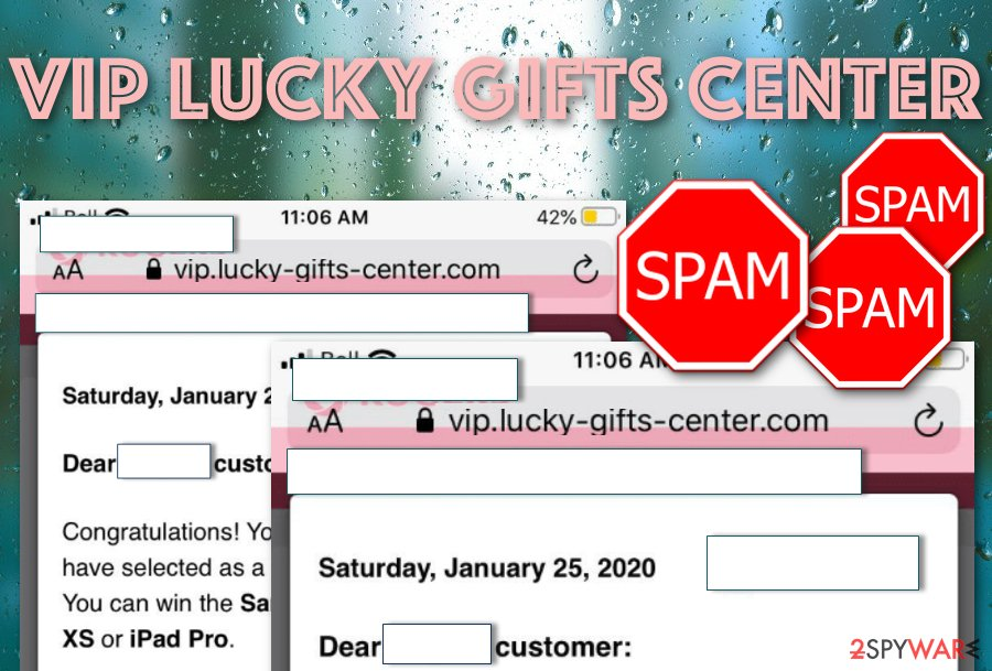 Vip Lucky Gifts Center spam