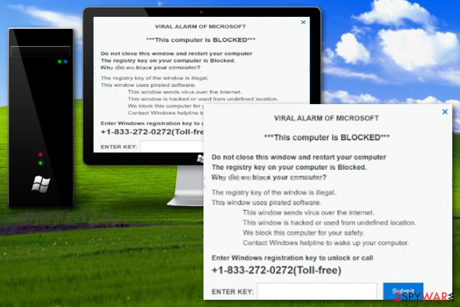 VIRAL ALARM OF MICROSOFT scam