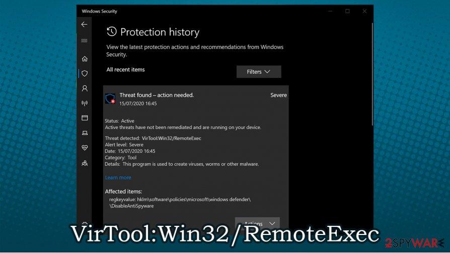 VirTool:Win32/RemoteExec