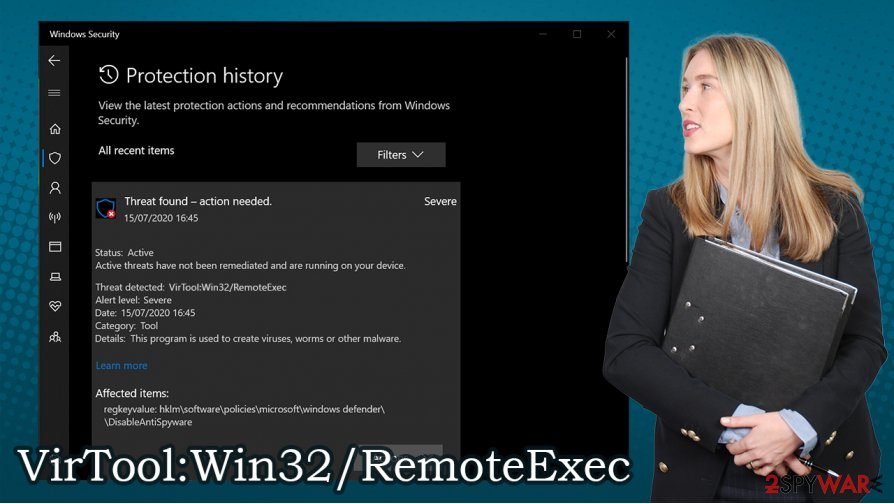 VirTool:Win32/RemoteExec virus