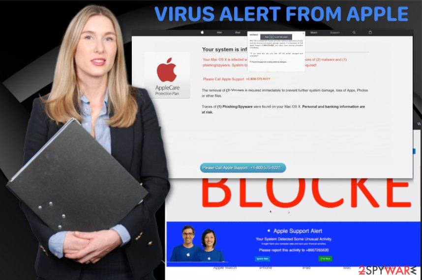 Virus Alert from Apple fake alert