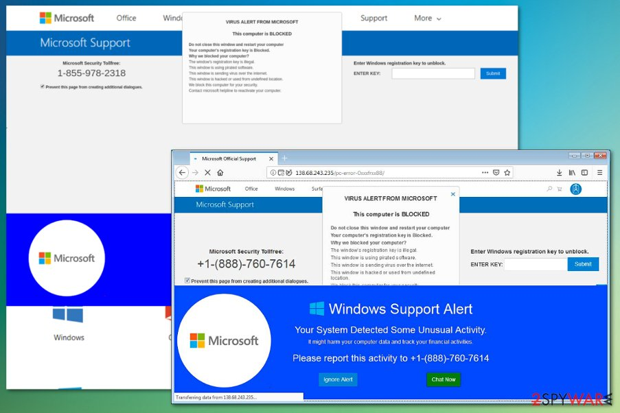 VIRUS ALERT FROM MICROSOFT virus