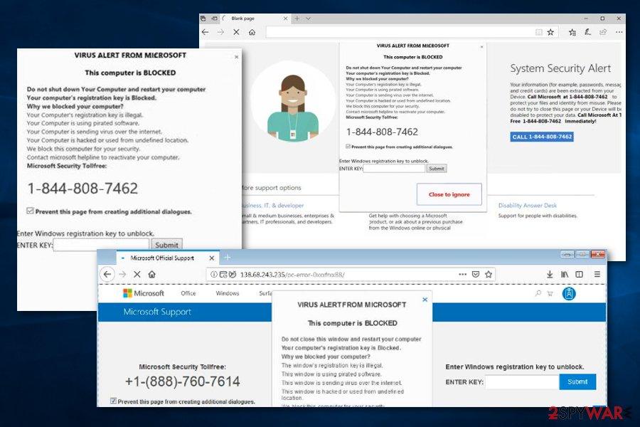 VIRUS ALERT FROM MICROSOFT scam