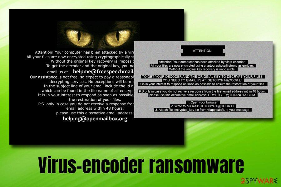 Virus-encoder ransomware