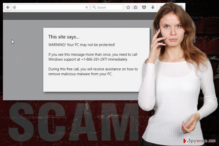 """The image of """"Virus found"""" tech support scam virus"""