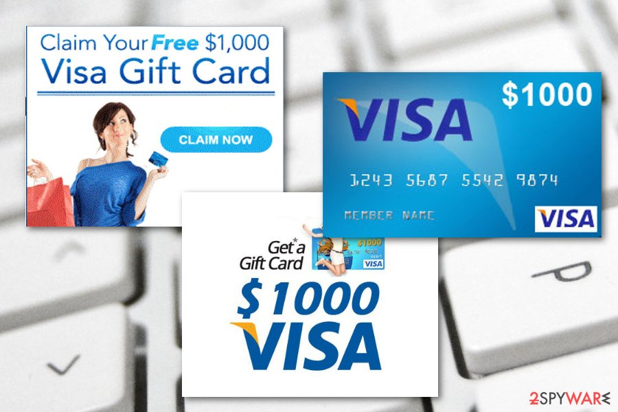 $1000 VISA Gift Card virus