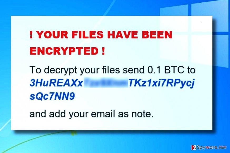 VMola ransomware ransom note
