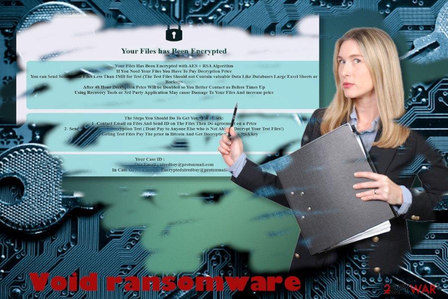 Void ransomware printscreen