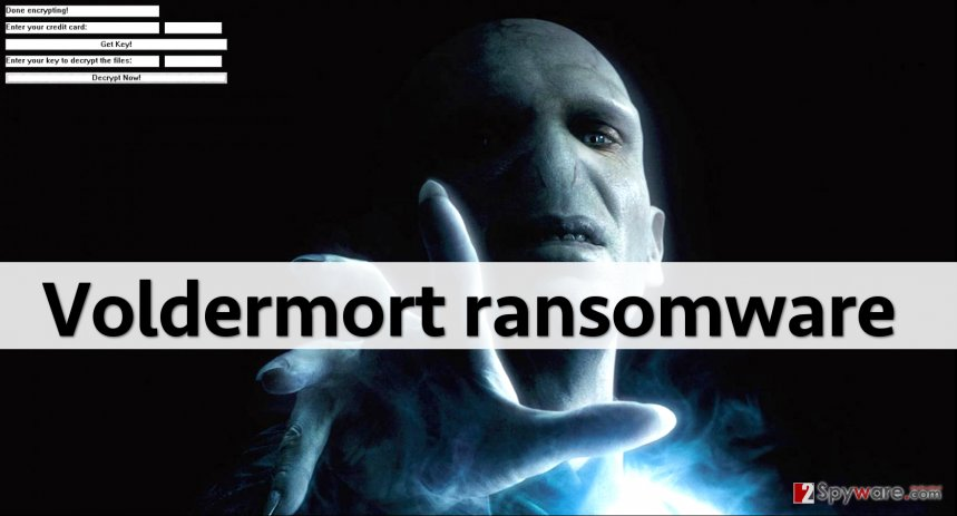 Screenshot of Voldemort ransomware screen