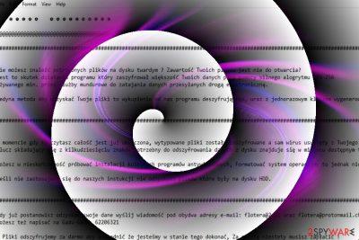 The image displaying Vortex malware