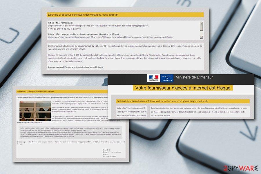 Votre fournisseur d'accès à Internet est bloqué malware