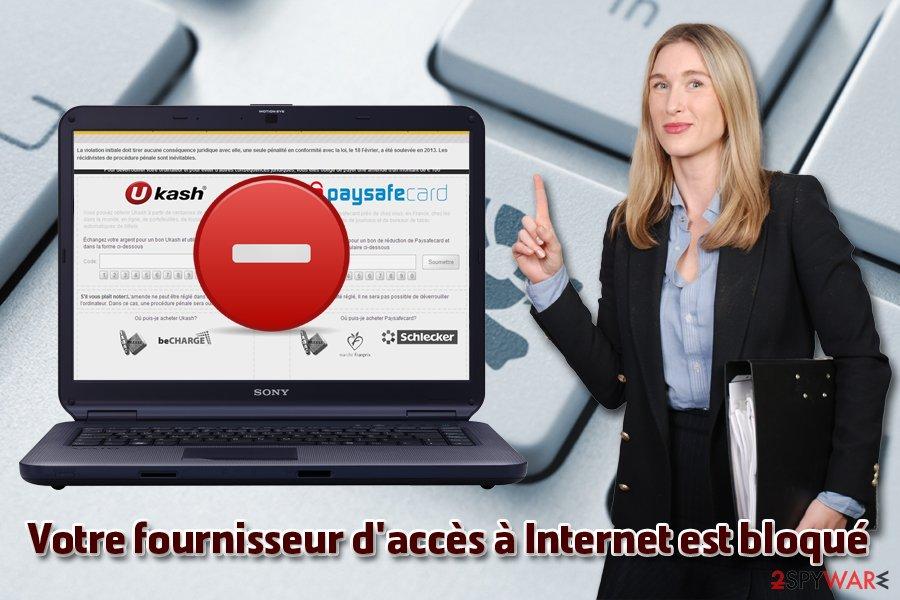 Votre fournisseur d'accès à Internet est bloqué virus