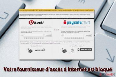 Votre fournisseur d'accès à Internet est bloqué