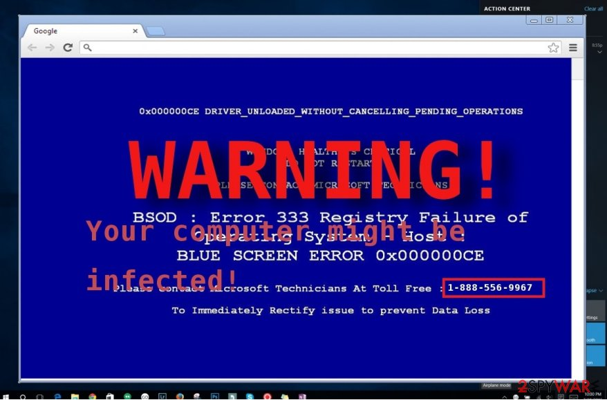The image revealing Warning: virus w32.vrbat has been detected