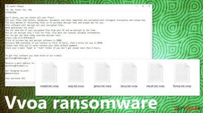 Vvoa ransomware virus