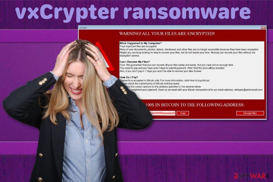 vxCrypter ransomware virus