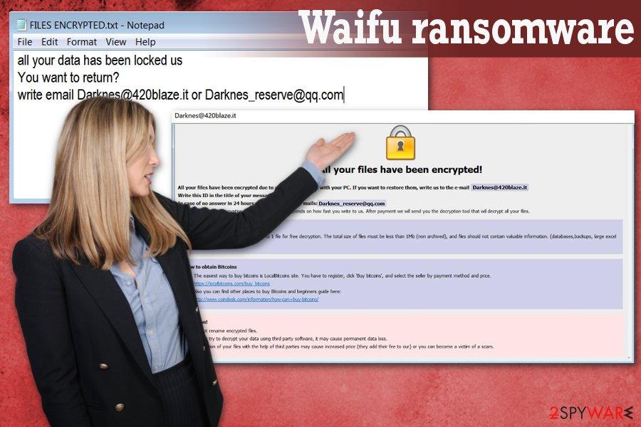 Waifu ransomware virus