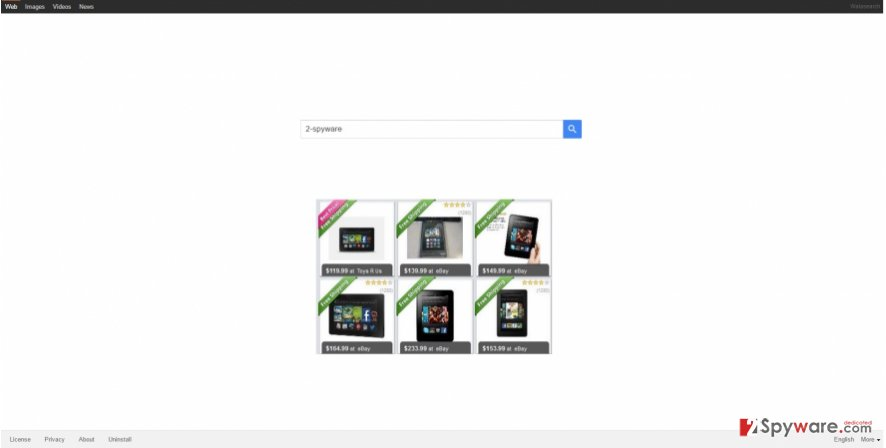 The image showing walasearch.com virus