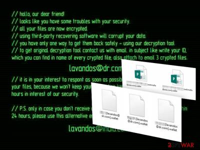 Wallet virus ransom note