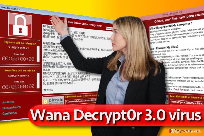 Wana Decrypt0r 3.0 ransomware