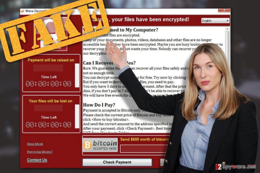 Image illustrating Wana DecryptOr 2.0 virus
