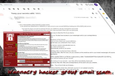 WannaCry hacker group email scam