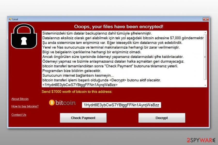 WannaCry imposter WannaCryOnClick ransomware