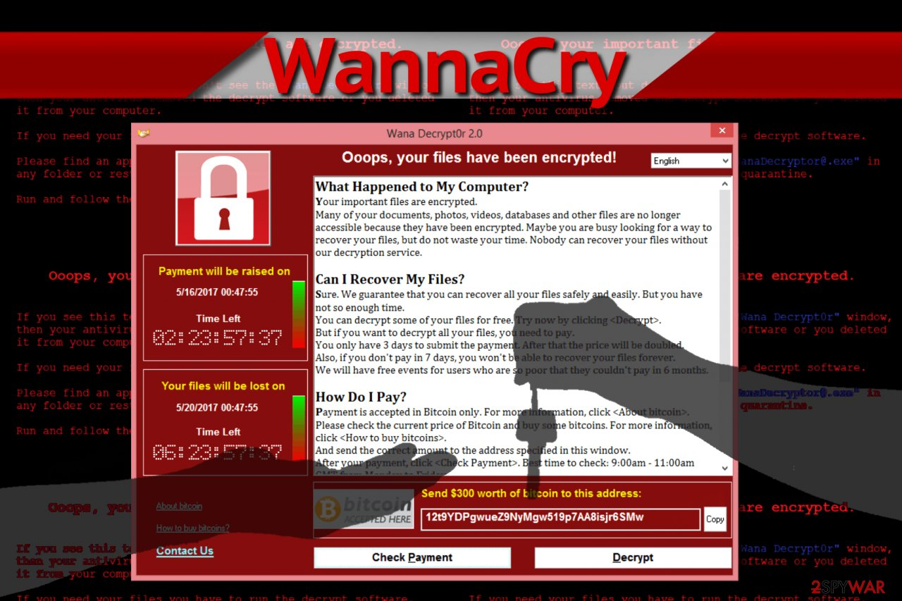 WannaCry ransomware demands ransom
