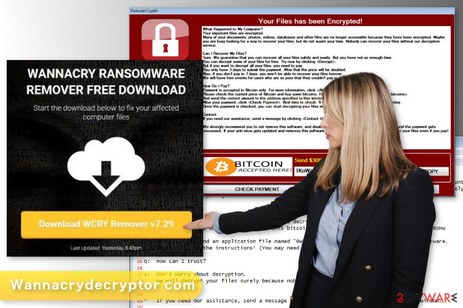 The image of Wannacrydecryptor.com virus