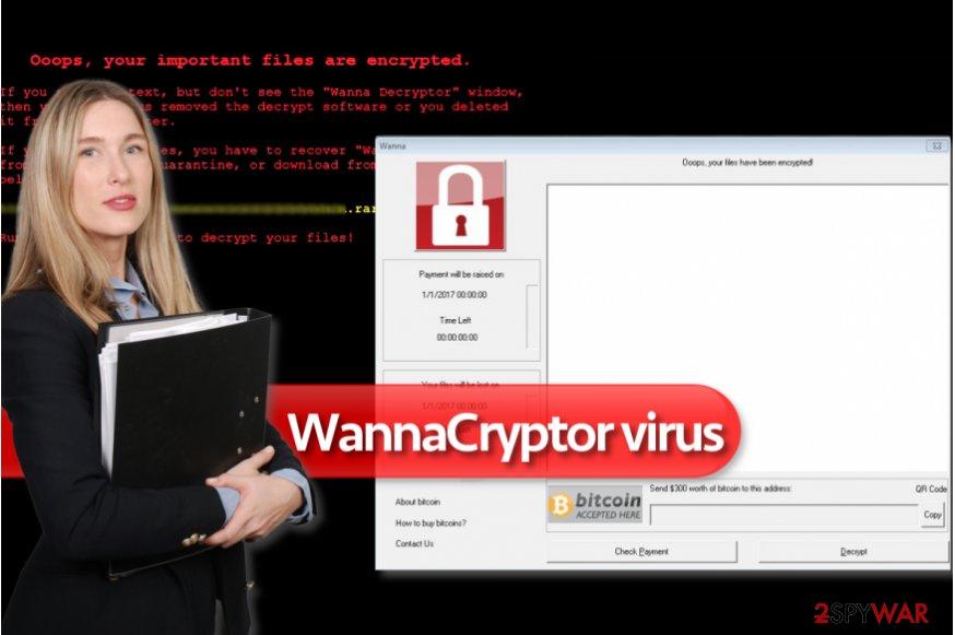WannaCryptor ransomware virus