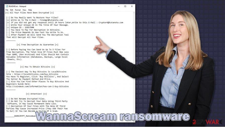 WannaScream ransomware virus