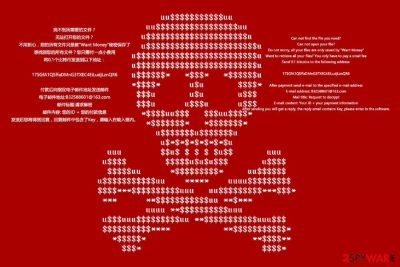 WantMoney ransomware wallpaper