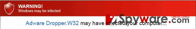 Warning! Windows may be infected snapshot