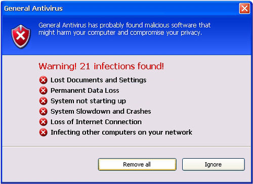 Warning! 21 infections found!