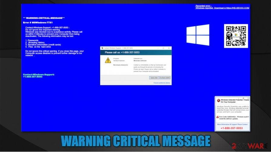 WARNING CRITICAL MESSAGE
