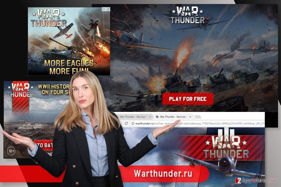 The image of Warthunder.ru virus