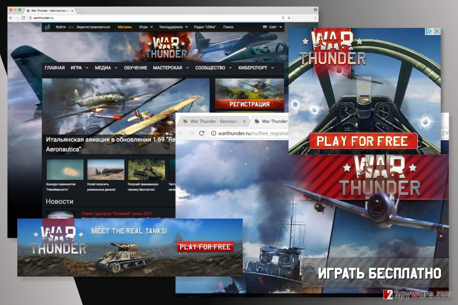 Examples of Warthunder.ru ads